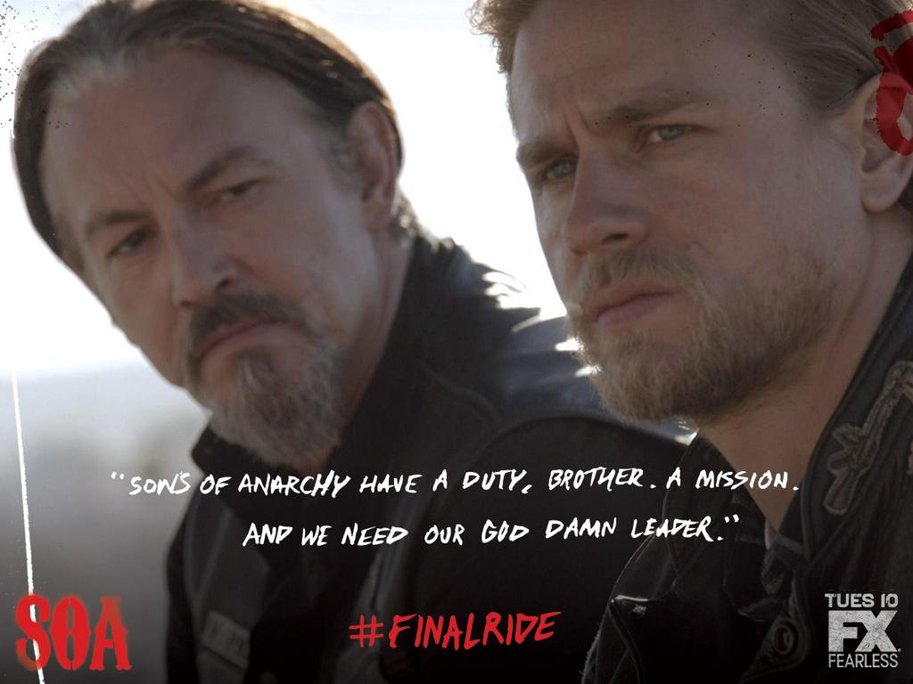 Sons Of Anarchy Quote Wallpaper Sons Of Anarchy Images Final Ride Chibs And Jax