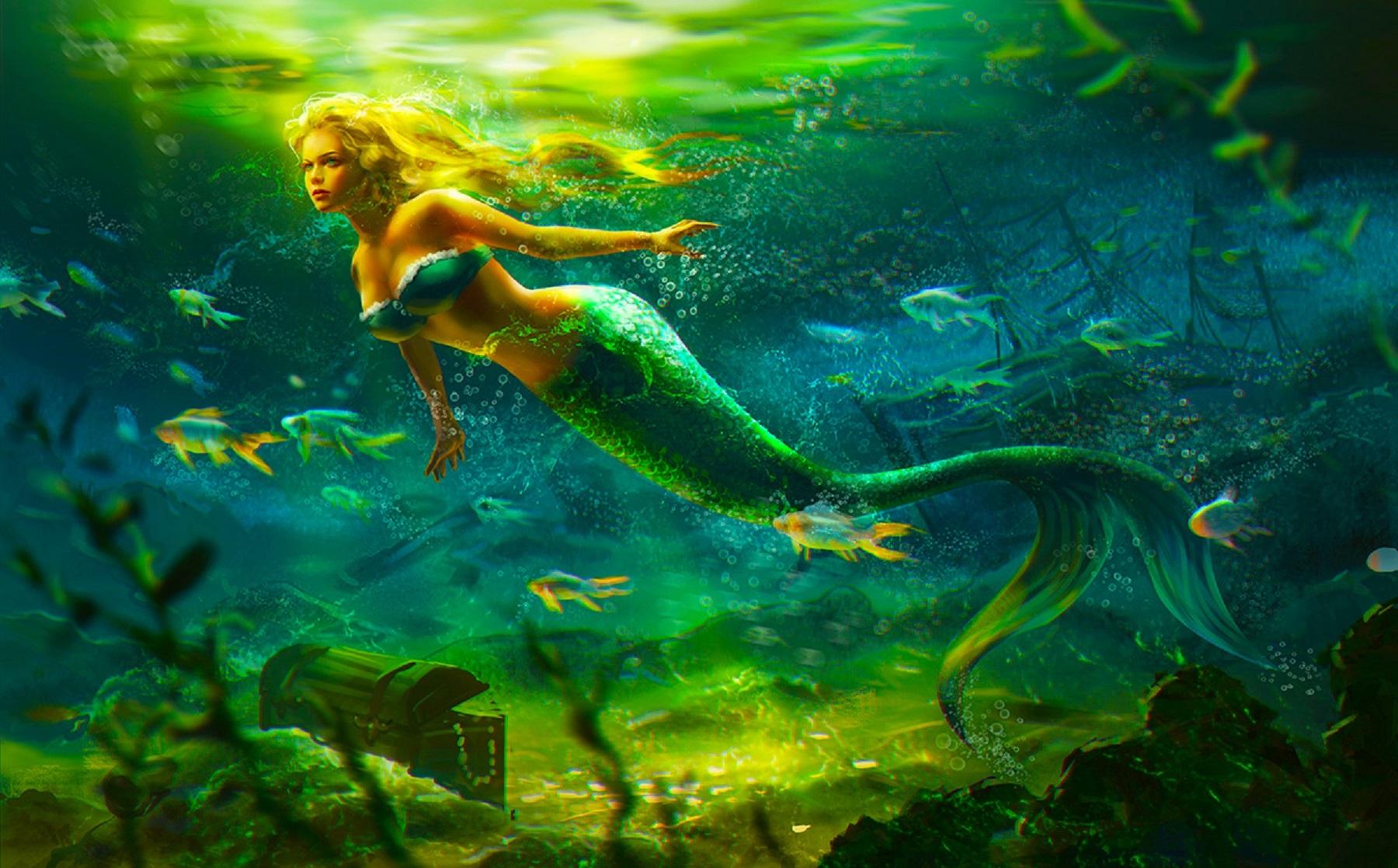 3d Wallpaper Under The Sea Mermaid Fantasy Photo 38079539 Fanpop
