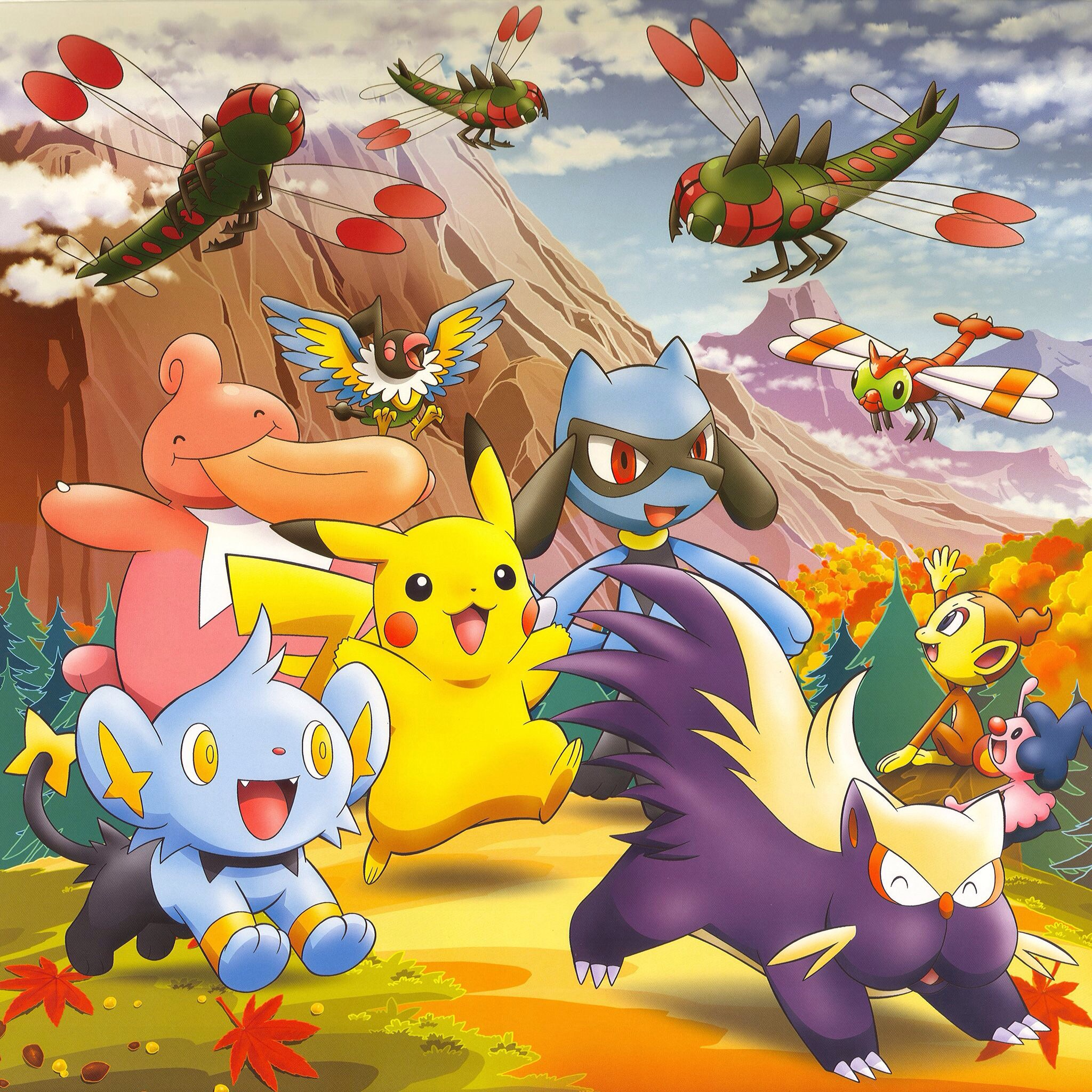 Fall Desktop Wallpaper Load Pikachu And Friends In The Fall Pok 233 Mon Photo 38336646