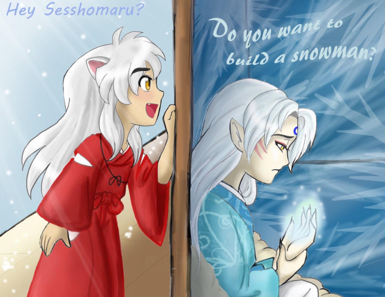 Anime Kiss Wallpaper Hd Sesshomaru And Inuyasha Images Frozen Inuyasha Hd