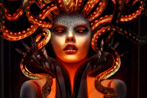 Beautiful Tattoo Girl Wallpaper Fantasy Images Medusa Hd Wallpaper And Background Photos