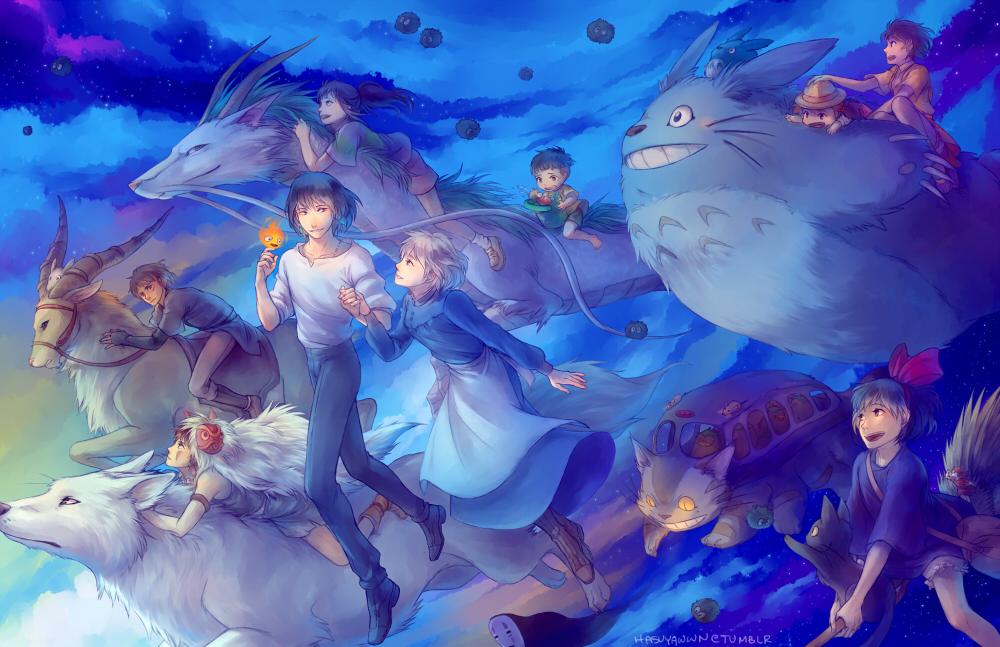Cute Japanese Art 4k Wallpaper Dessins Anim 233 S Images Studio Ghibli Characters Hd Fond D