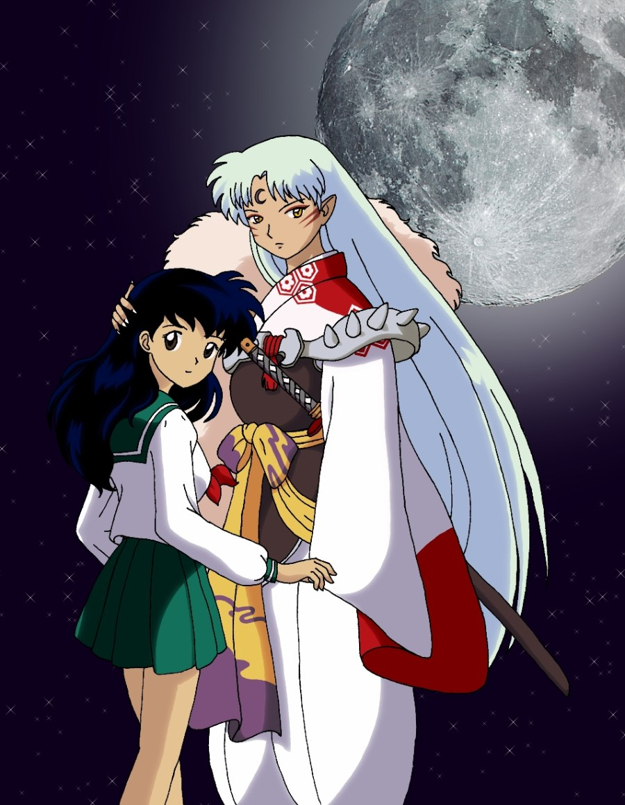 Inu/Ookami anime Characters hình nền probably with anime entitled Sesshomaru and Kagome