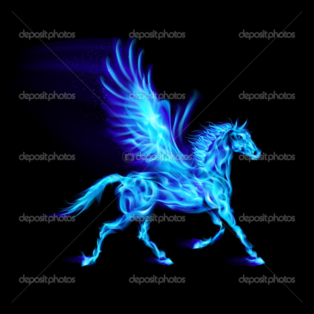 3d Wallpaper Red Blue Fire Pegasus Wallpaper Www Imgkid Com The Image Kid