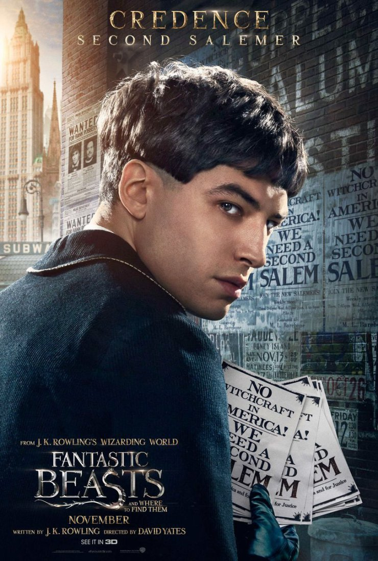 Wall Art Credence Fantastic Beasts And Where To Find Them Images Character Portrait