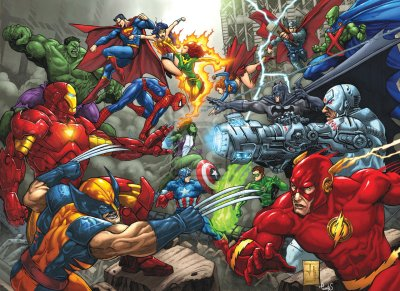 Marvel Comics VS. DC Comics images Banner Marvel VS DC HD wallpaper and background photos (41414325)