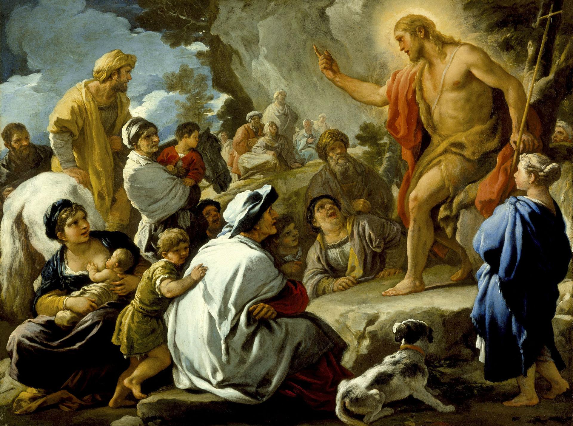 Lamb Of God Iphone Wallpaper St John The Baptist Preaching Circa 1695 Hd Wallpaper