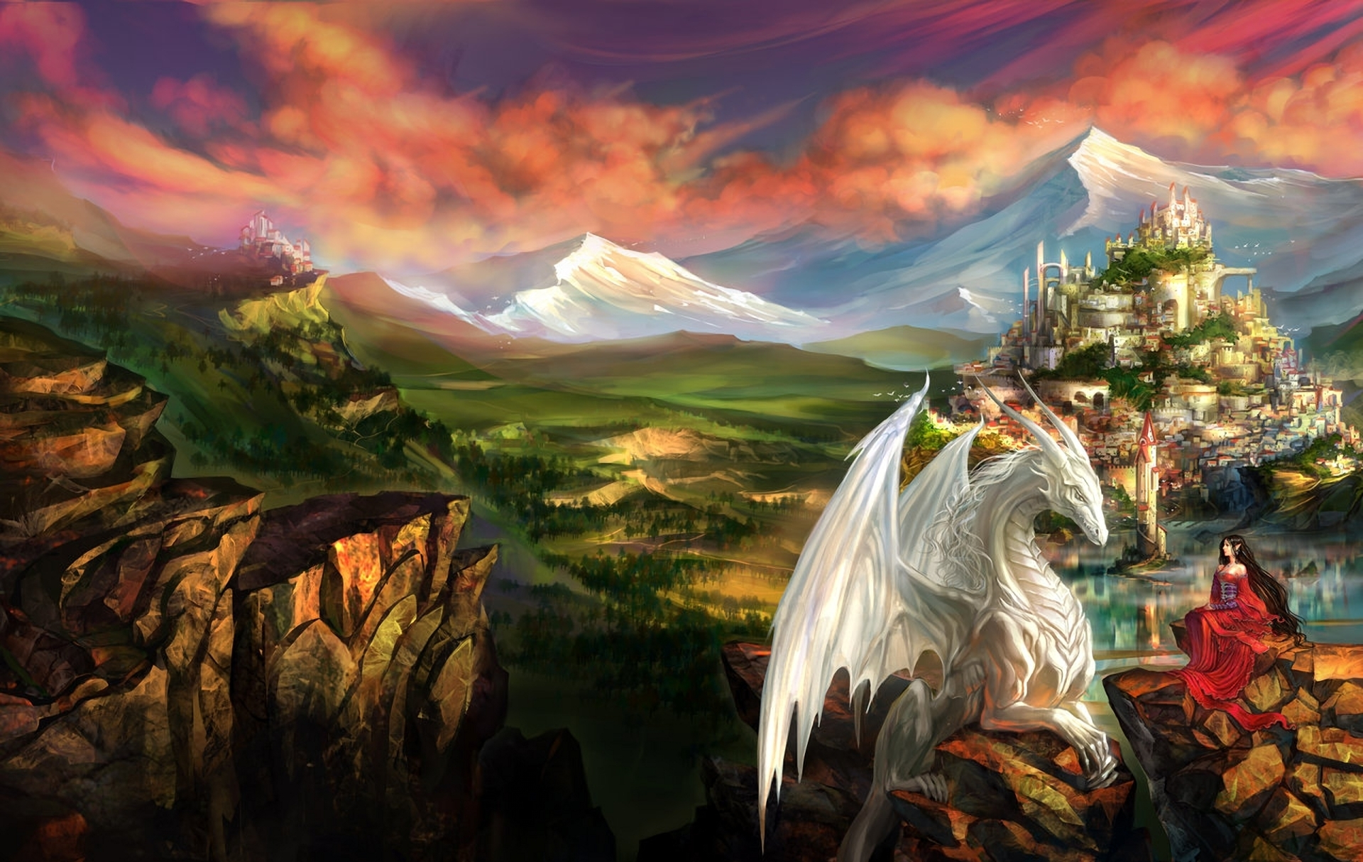 Fantasy World Art Dragon Silva Hd Wallpaper Background Image 1920x1214 Id