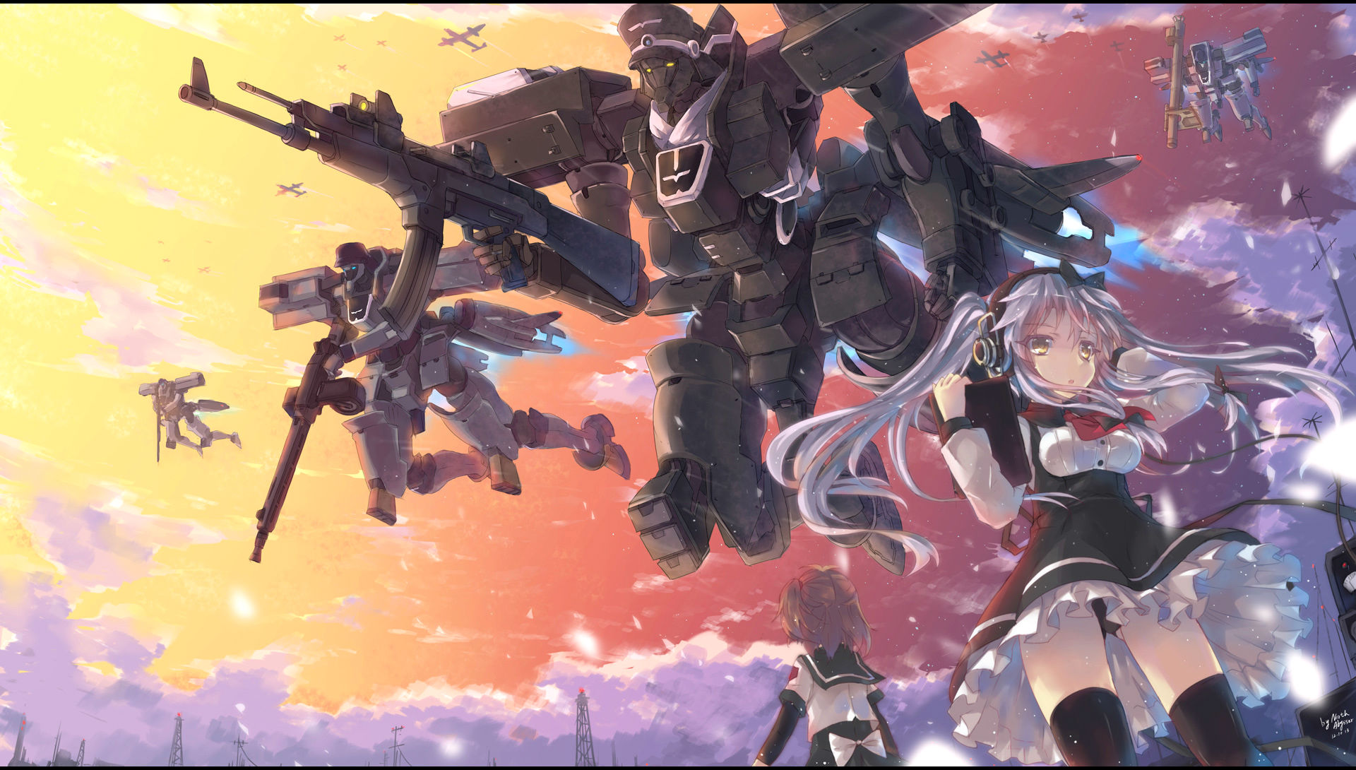 Wallpaper Engine Gun Anime Girl Original Full Hd Wallpaper And Background Image