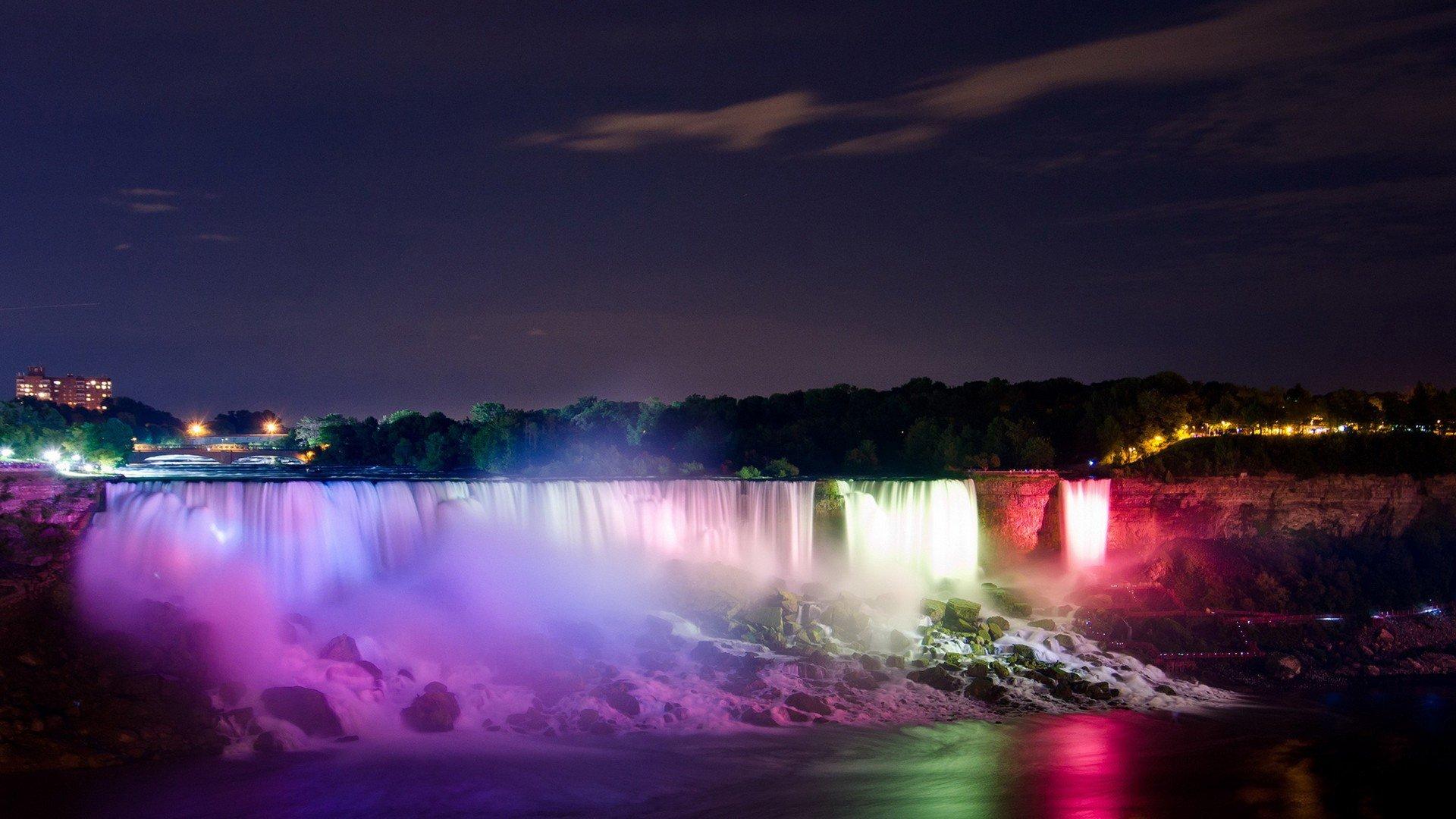 Niagara Falls At Night Wallpaper Hd Niagara Falls At Night Full Hd Wallpaper And Background