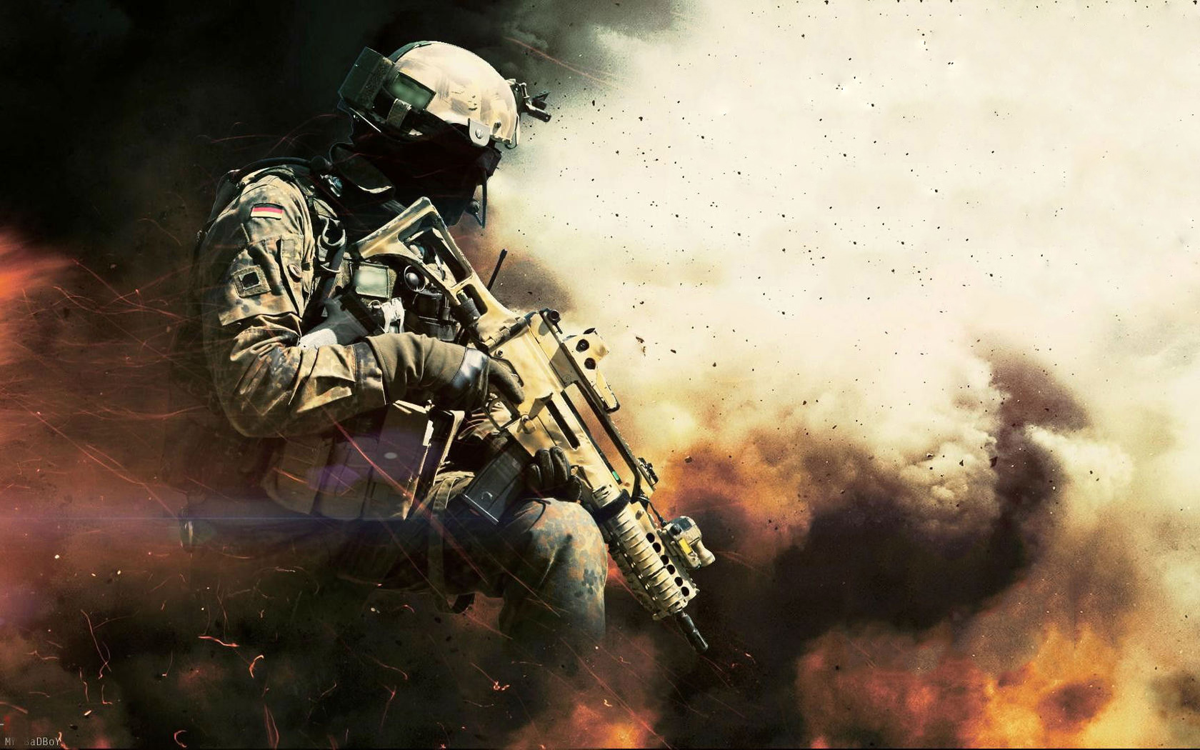 Cool Wallpaper Car Game Explostion Guns Medal Of Honor Wallpaper And Background 1680x1050 Id