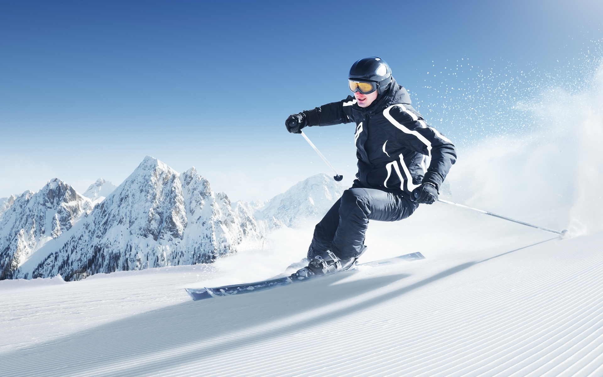Skiing Wallpaper Skiing Hd Wallpaper Background Image 1920x1200 Id 324002