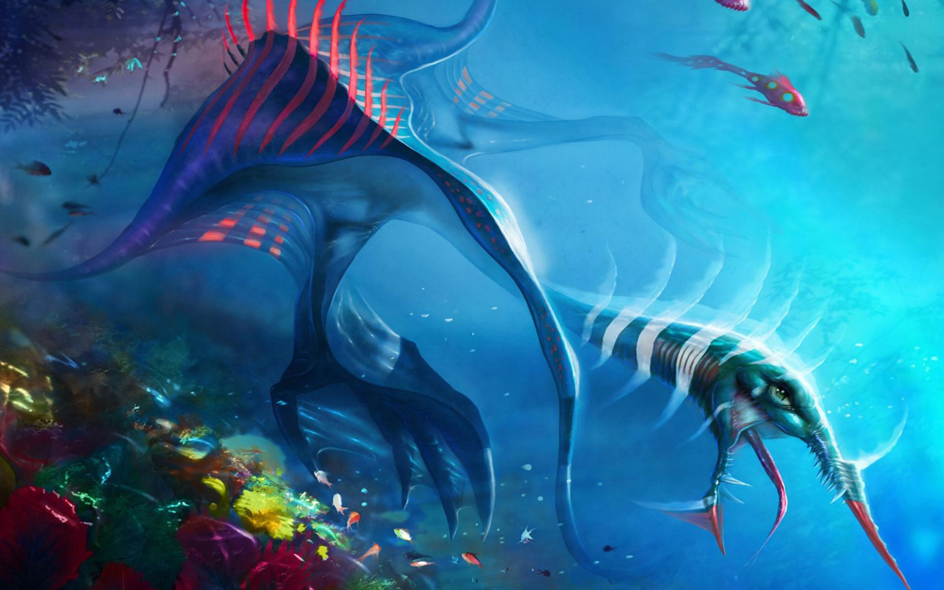 Free Download Animated Wallpapers For Windows 7 Ultimate Sea Monster Hd Wallpaper Background Image 1920x1200