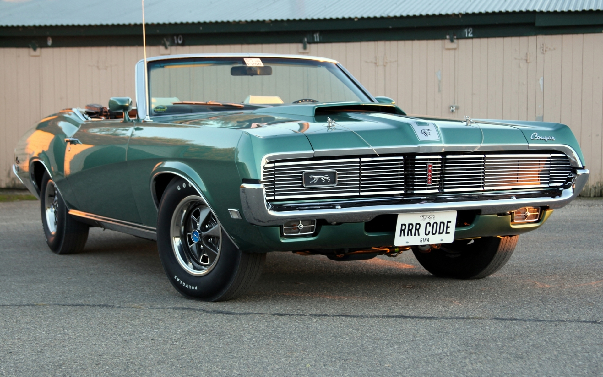 Cool Muscle Car Wallpapers Green 1 1969 Mercury Cougar Hd Wallpapers Background Images