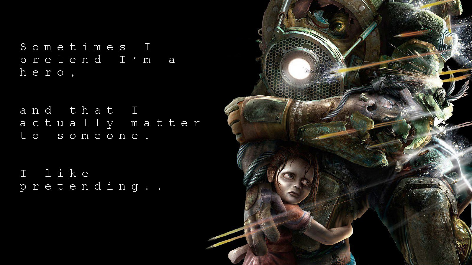 3840x1080 Hd Wallpapers Sad Quote Bioshock Wallpaper And Background Image 1600x900 Id 404676