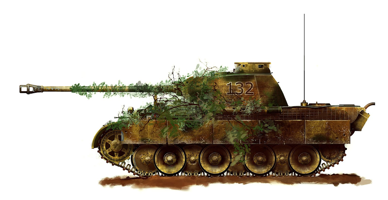 3d Moving Galaxy Wallpaper Panzer V Panther With Camouflage Wallpaper And Background