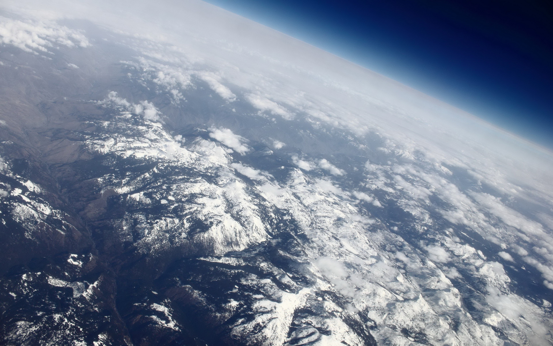 Hd Earth Wallpaper Widescreen Over The Rocky Mountains Somewhere Above Montana Or
