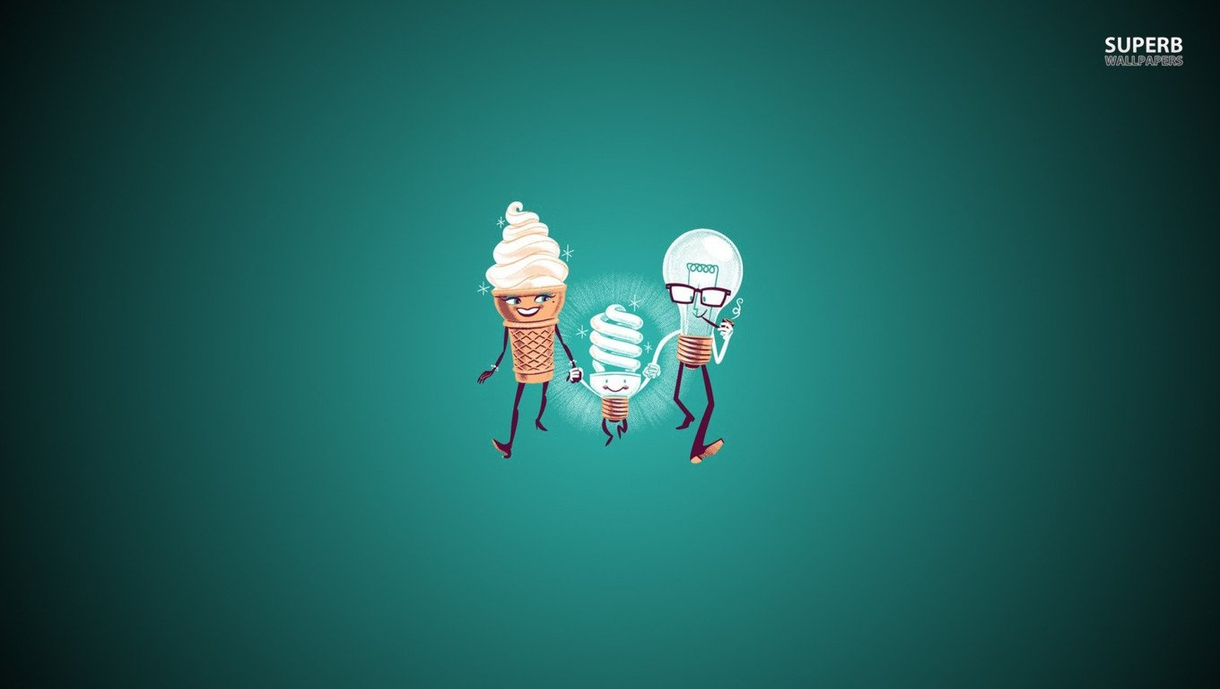 Ice Cream Wallpaper Hd 1080p Ice Cream Amp Bulbs Wallpaper And Background 1360x768 Id