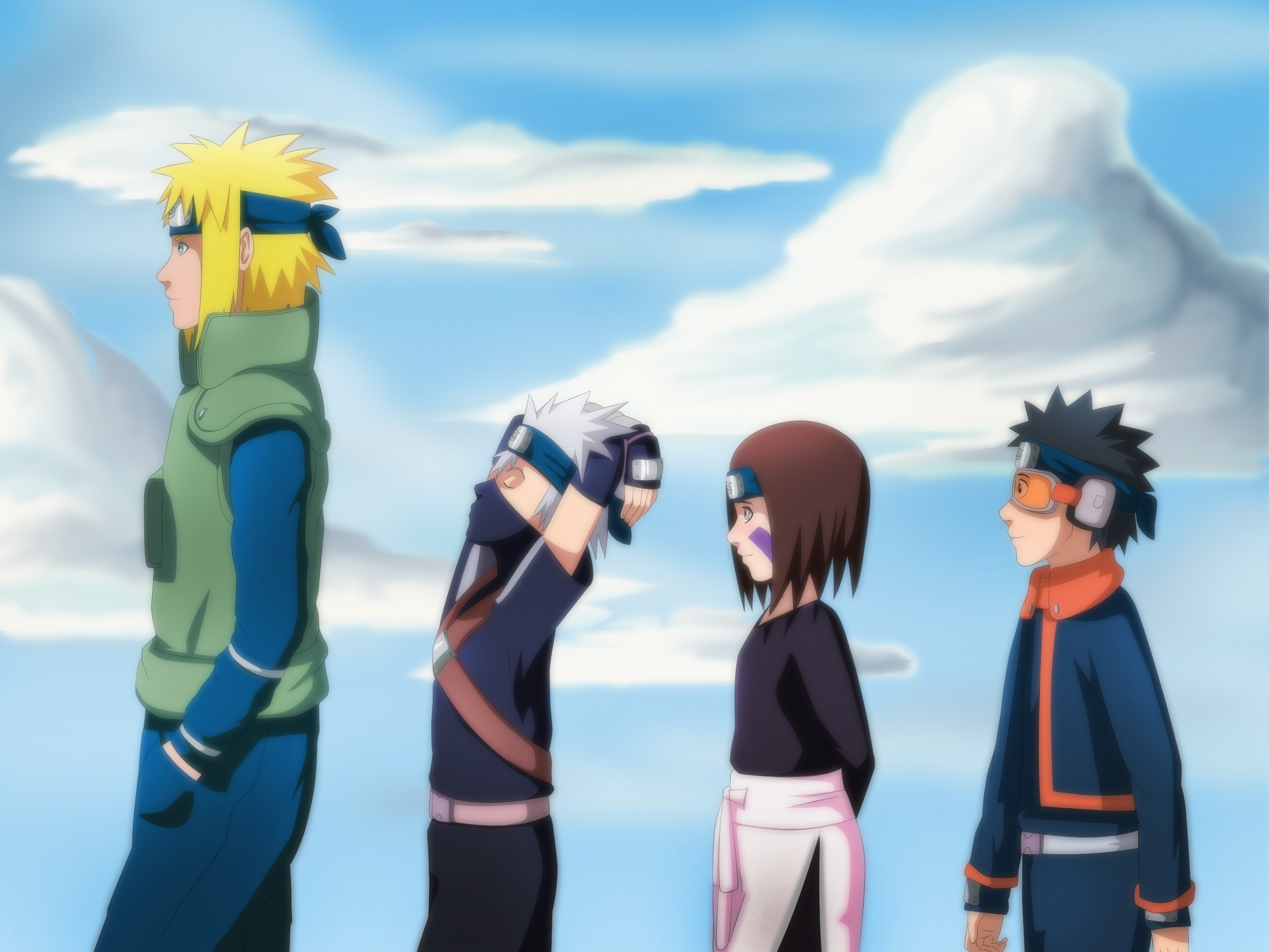 Naruto Wallpaper Iphone 4 Fourth Hokage Team Full Hd Papel De Parede And Planos De