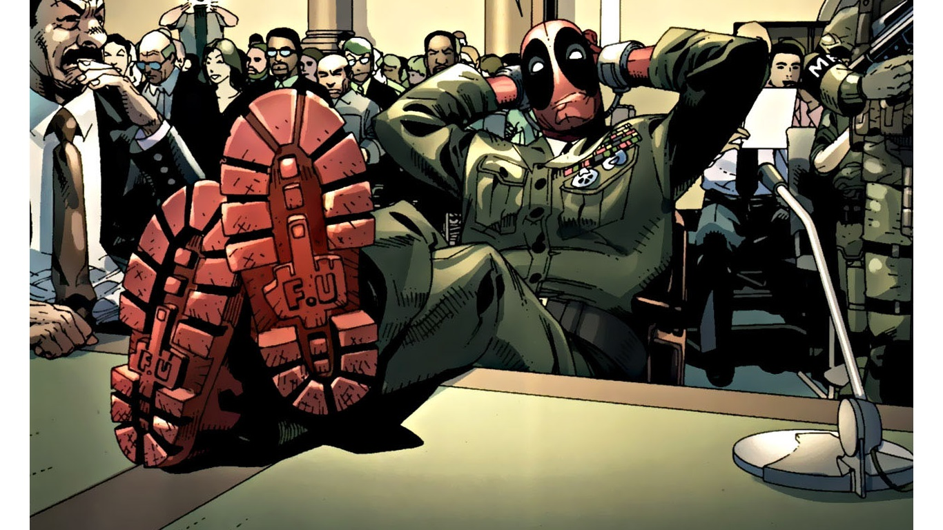 Deadpool Wallpaper Iphone 7 Deadpool Wallpaper And Background Image 1366x768 Id