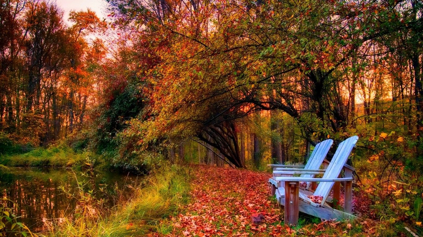 A Peaceful Autumn Day Wallpaper And Background Image