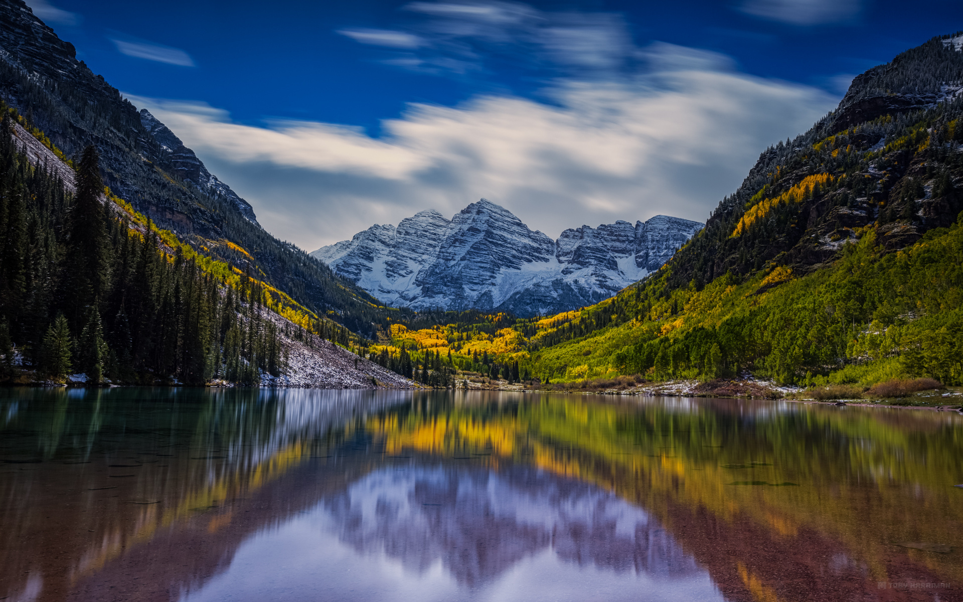 Fall In Colorado Wallpaper Fall At Maroon Bells Full Hd Wallpaper And Background