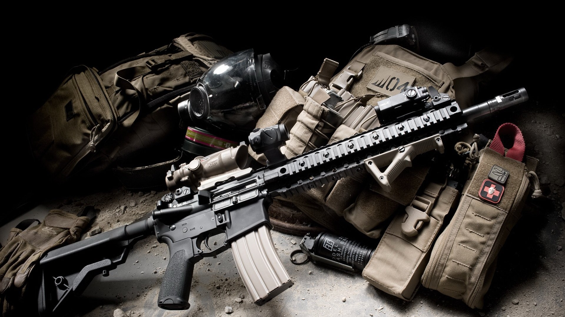 Airsoft Gun M4 1 Bcm Recce Hd Wallpapers | Background Images - Wallpaper