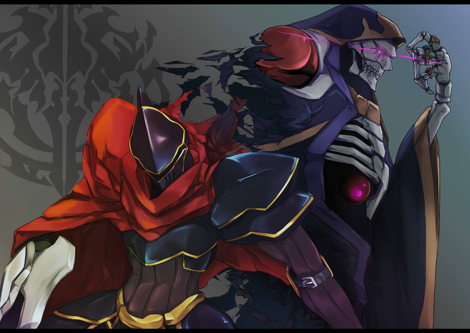 Iphone Sayings Wallpaper Anime Overlord Overlord Ainz Ooal Gown Wallpaper