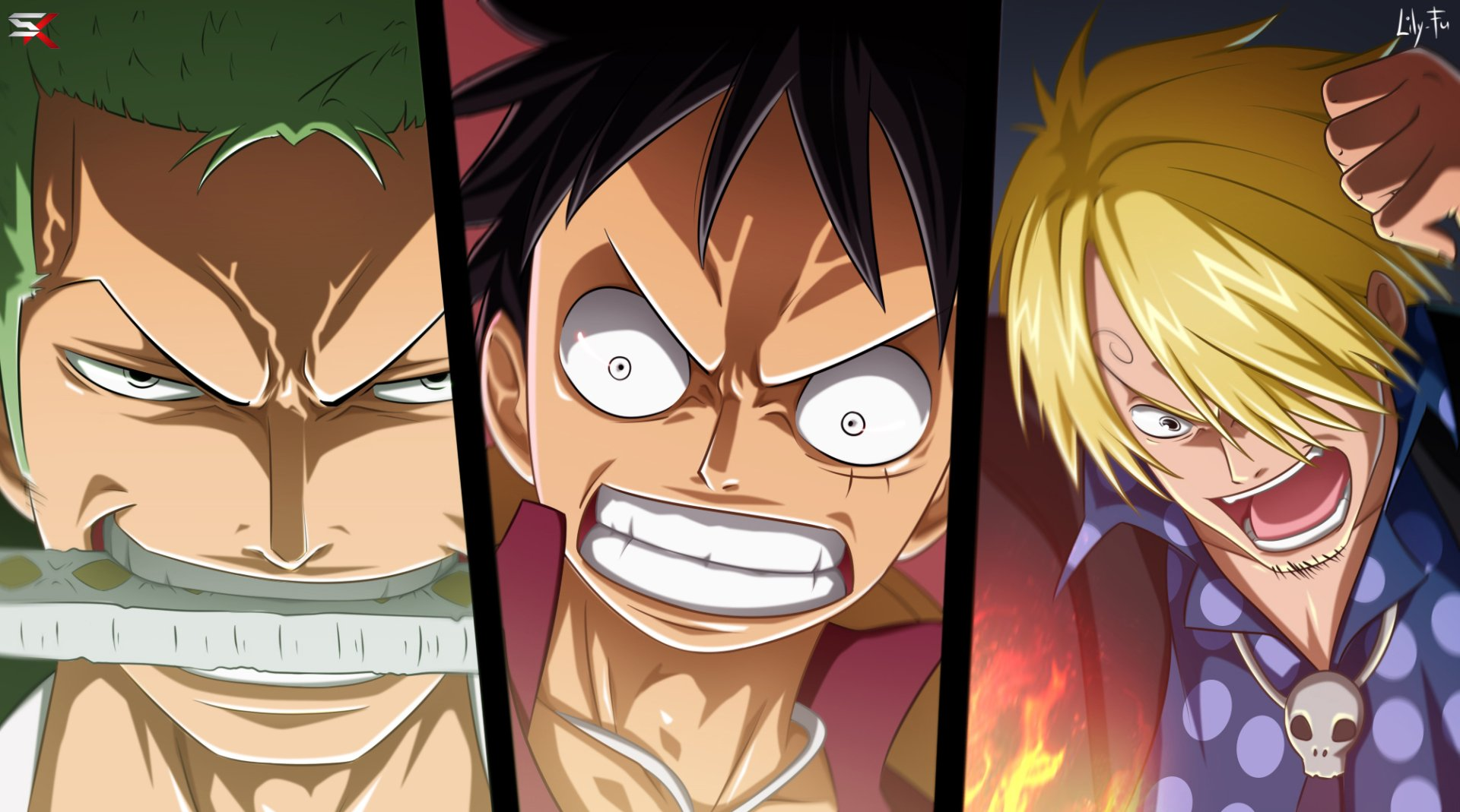 One Piece Iphone X Wallpaper Zoro Luffy And Sanji Full Hd Papel De Parede And