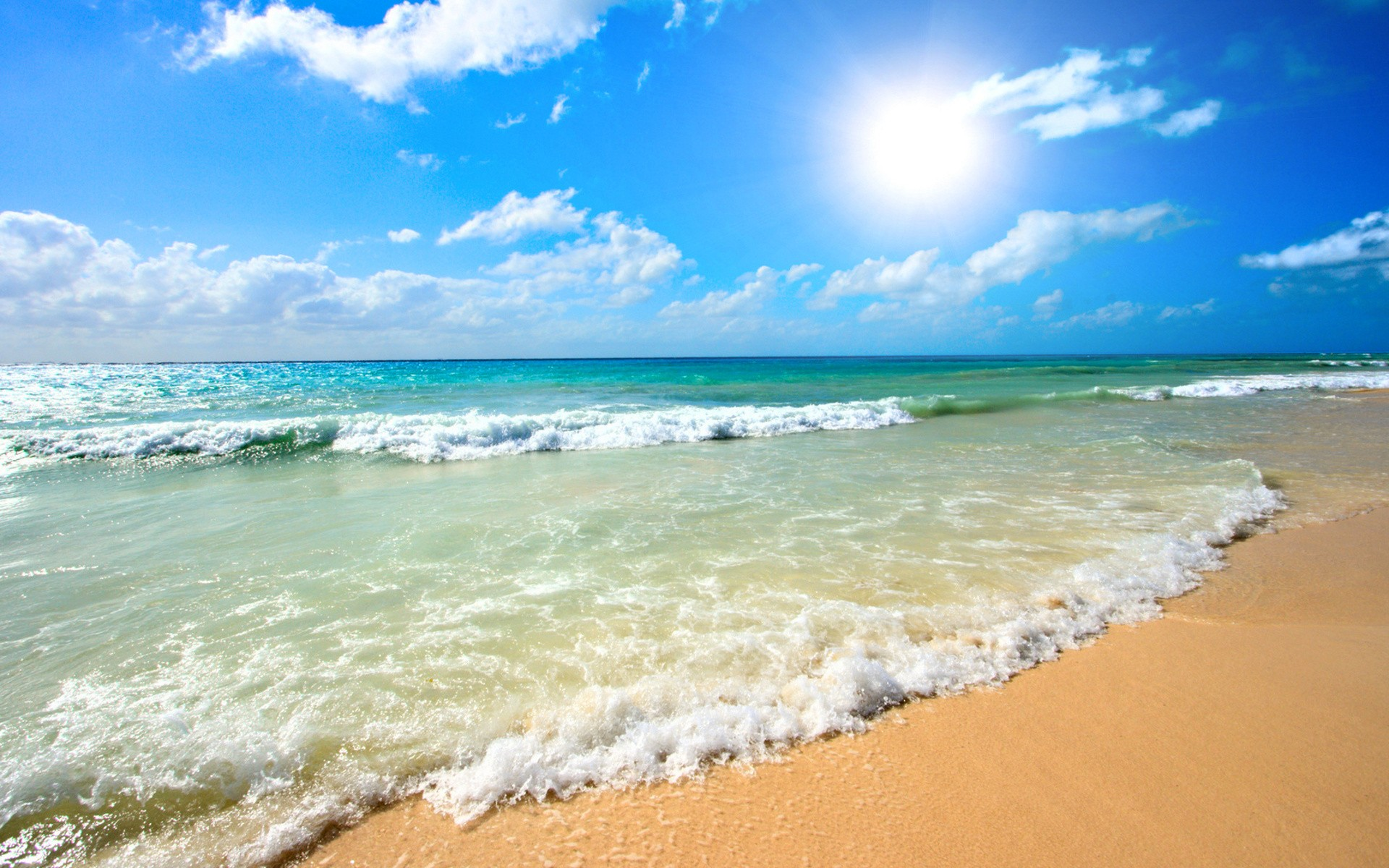 Caribbean Iphone Wallpaper Sunshine Over The Ocean Full Hd Fond D 233 Cran And Arri 232 Re