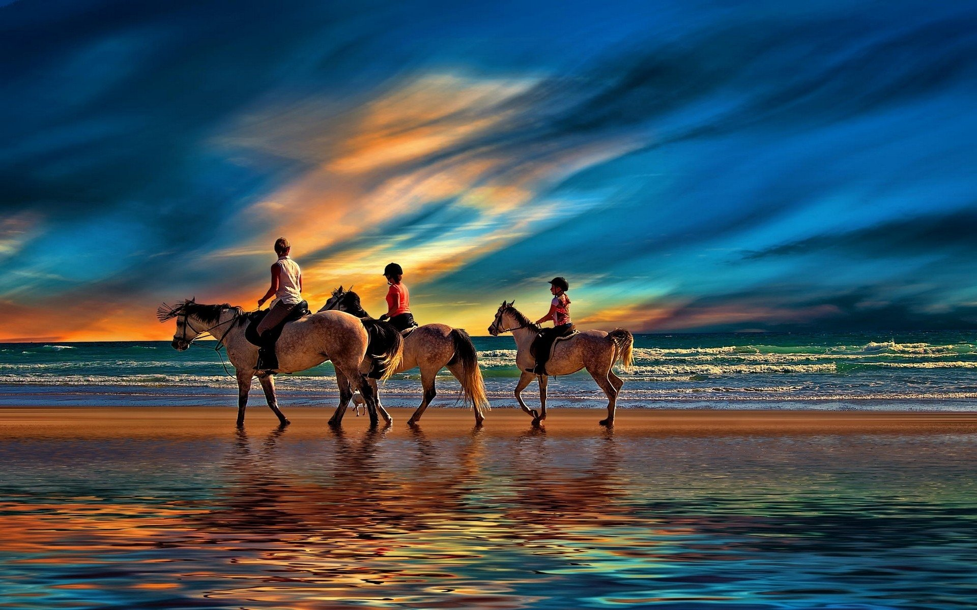 Ultra Hd Wallpaper Strand Riding On The Beach Full Hd Wallpaper And Background Image