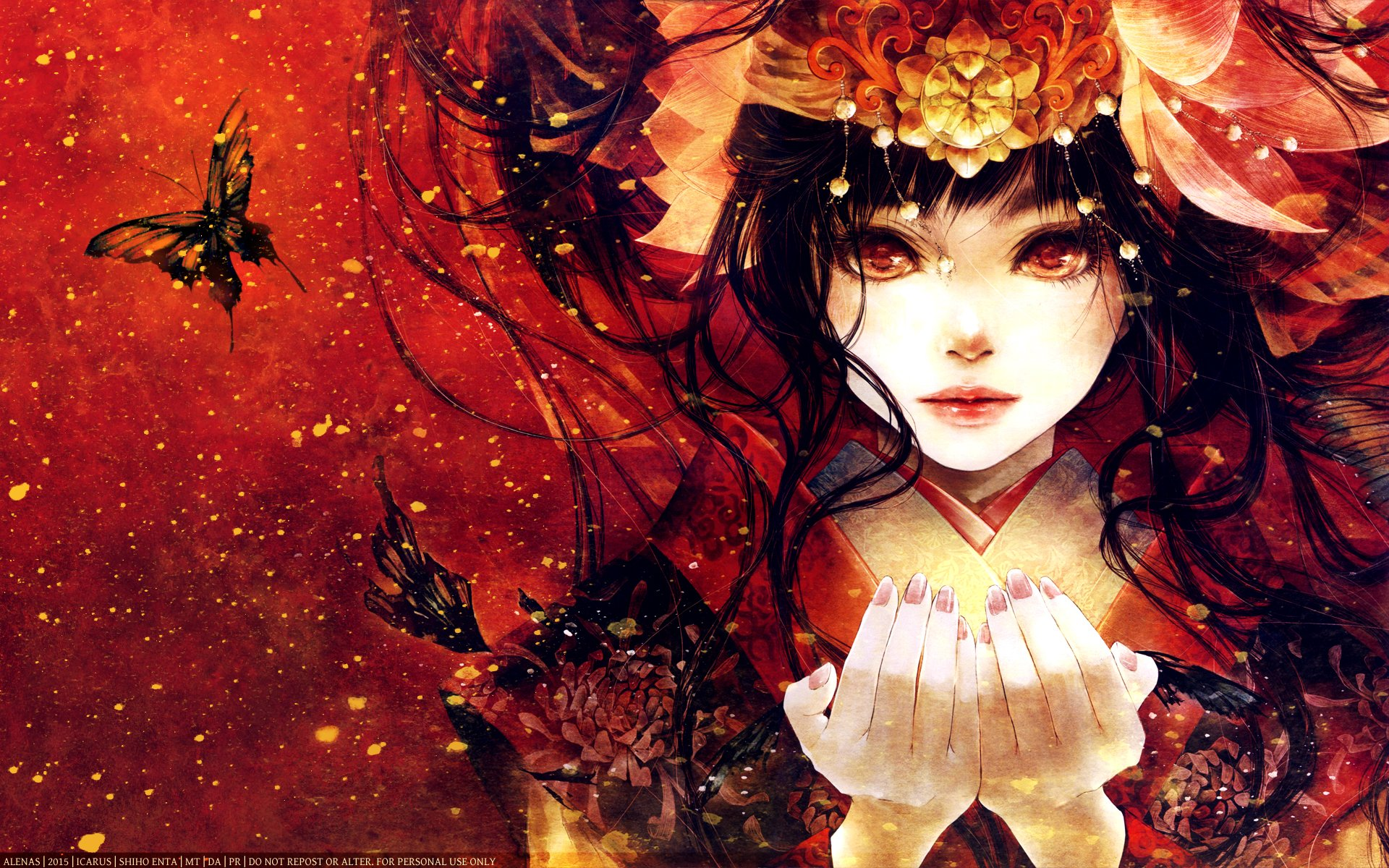 Lol Wallpapers Hd 1980x1080 Anime Girl And Butterfly Full Hd Wallpaper And Background