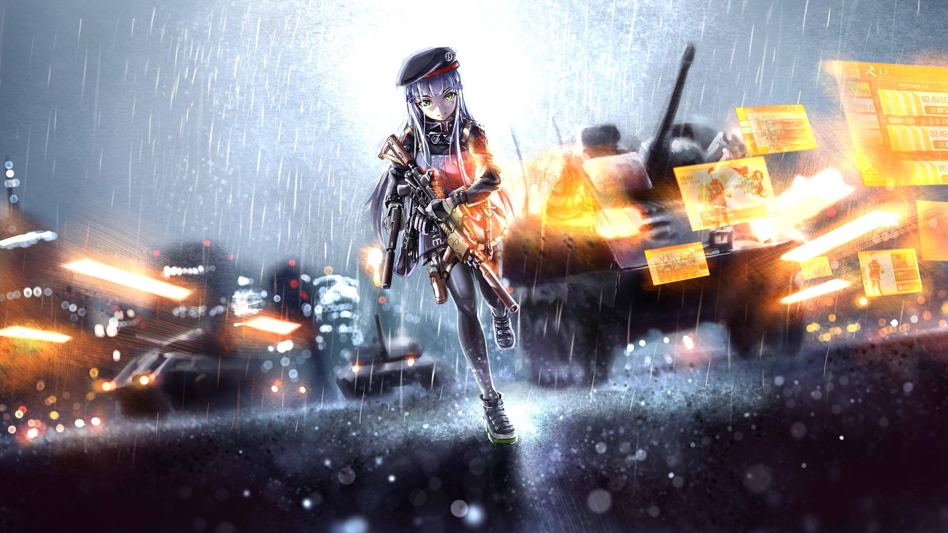 Wallpaper Engine Gun Anime Girl Girls Frontline Hd Wallpaper Background Image
