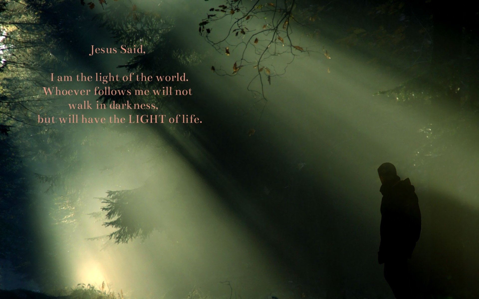 Cool Quote Wallpapers For Mobile Jesus Said I Am The Light Hd Wallpaper Background Image