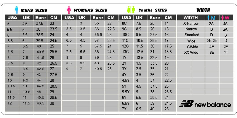 Reebok Shoe Size Chart - Best Picture Of Chart AnyimageOrg