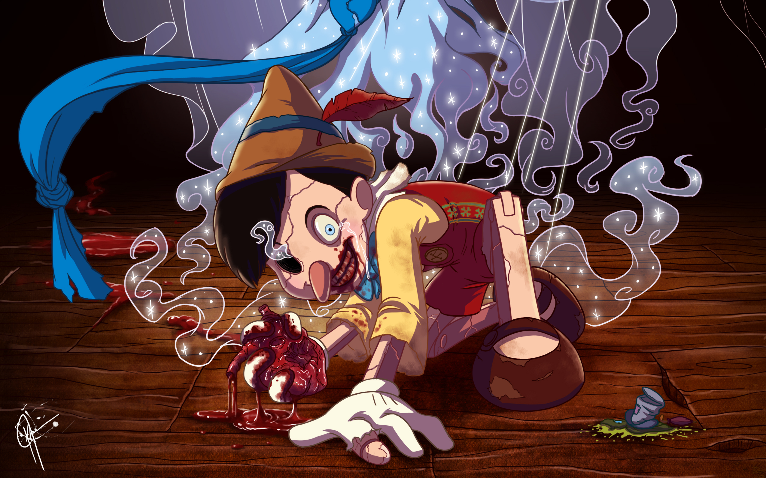 Horror Hd Wallpapers 1366x768 7 Pinocchio Hd Wallpapers Background Images Wallpaper