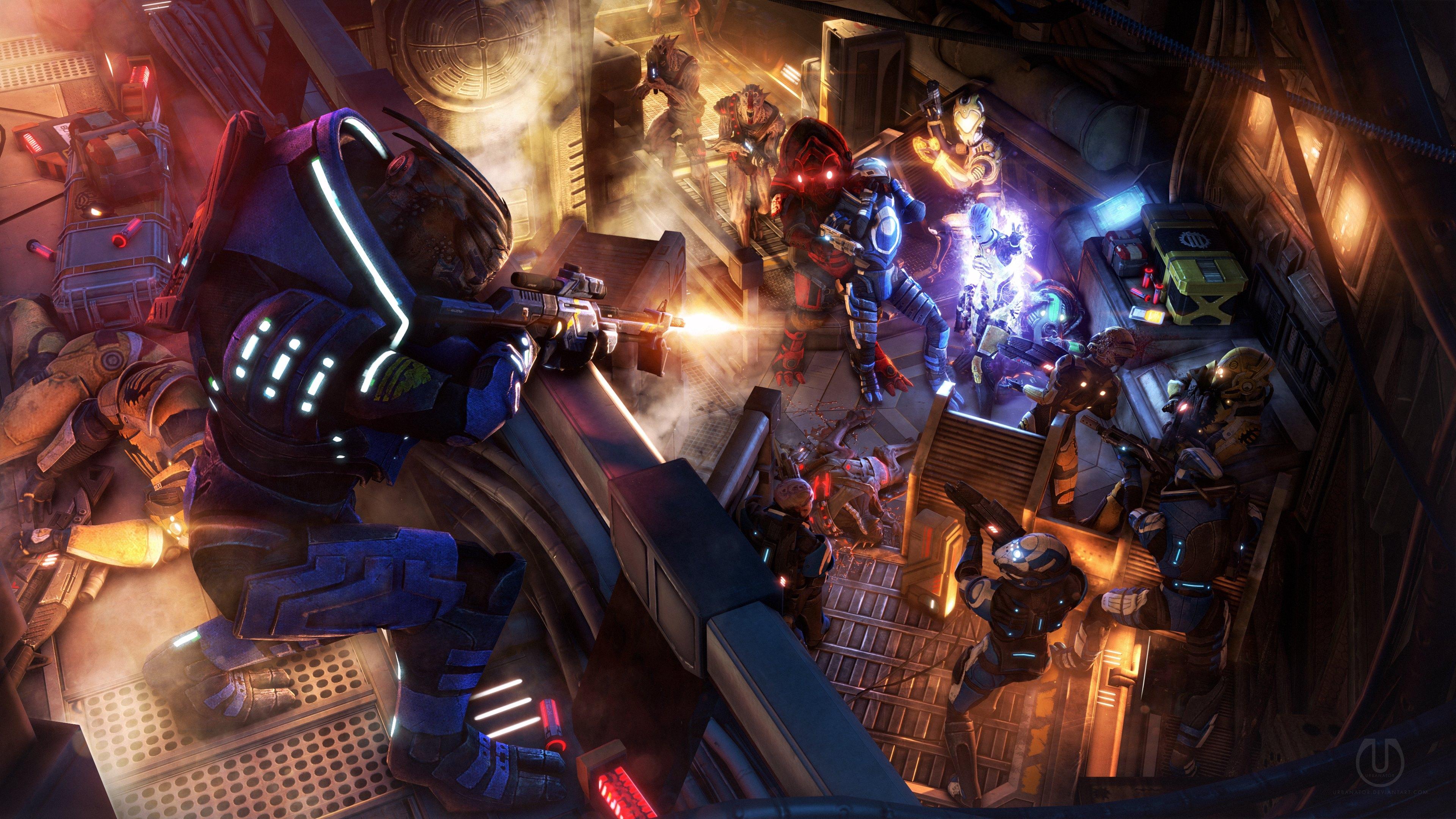 Gta Girl Gun Desktop Wallpaper Mass Effect 4k Ultra Hd Wallpaper Background Image