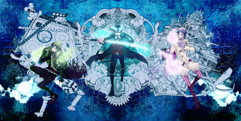 Blue Exorcist Wallpaper Hd Rin Amaimon And Mephisto Fond D 233 Cran Hd Arri 232 Re Plan