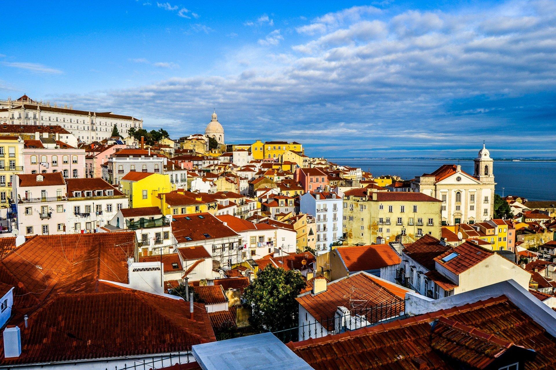 Lisbon Wallpaper Hd Lisbon Portugal Cityscape Full Hd Wallpaper And