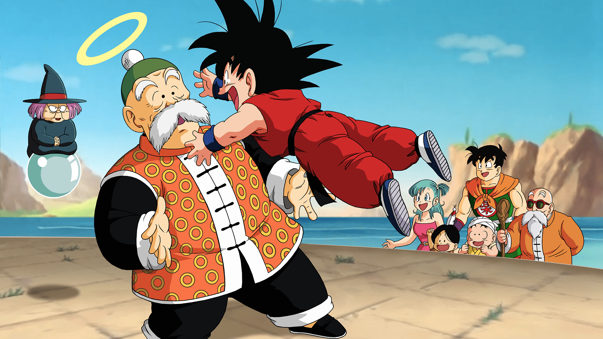 Iphone Collage Wallpaper Maker Goku Grandfather Hd Wallpaper Background Image