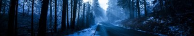 Winter Road Tapeta HD | Tło | 5760x1080 | ID:747362 - Wallpaper Abyss