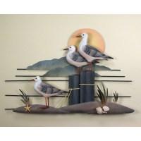 Seagull Trio, Gull, Wall Art, Wall Hangings