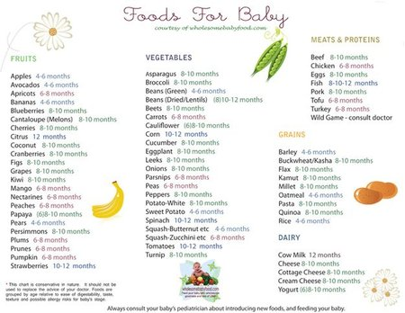 Semi solids to 55 month old baby - Baby (0-12 months) - BabyCenter