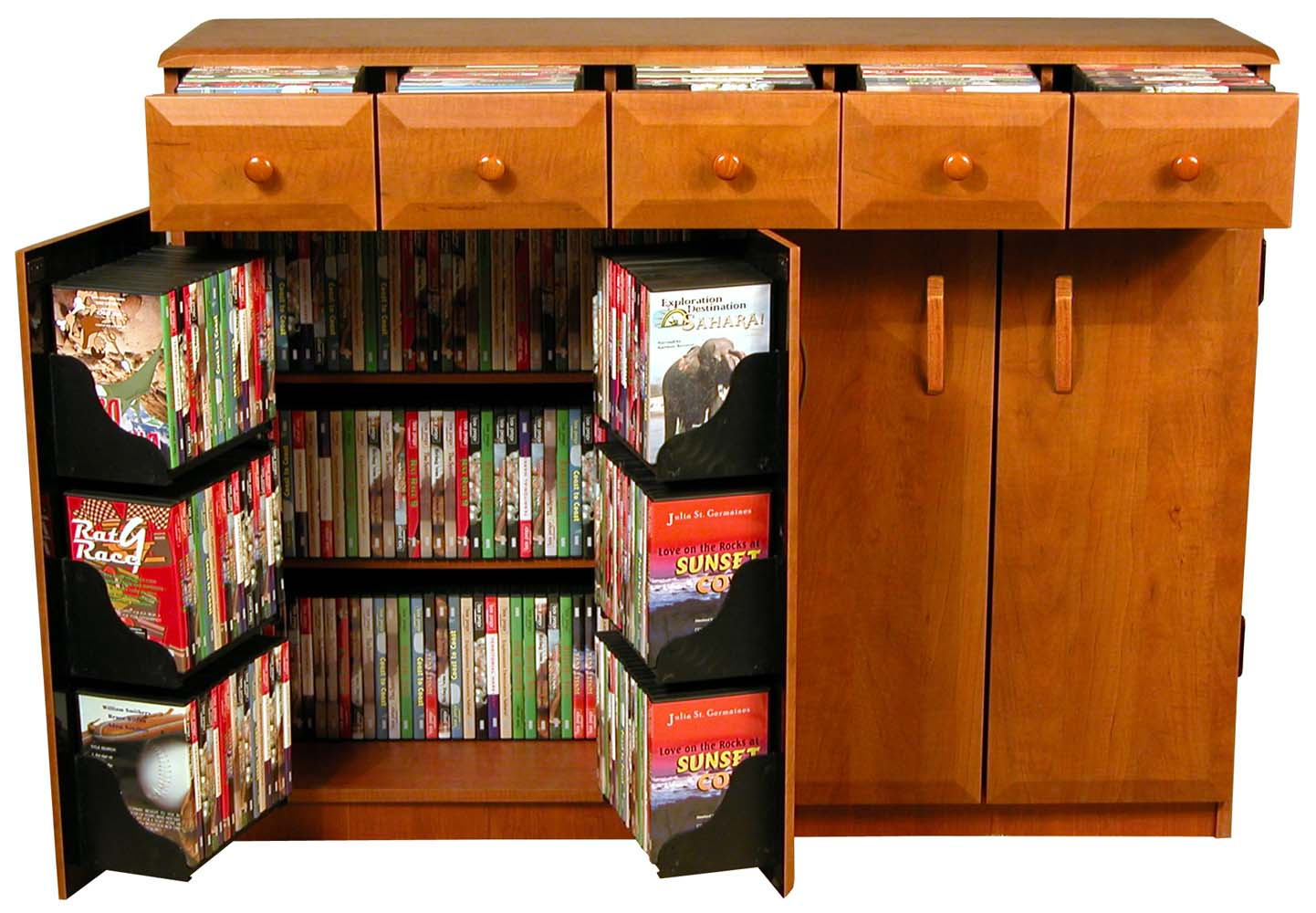 Cupboard Drawers Details About Cd Dvd Storage Cabinet Rack Tv Stand W Drawers New