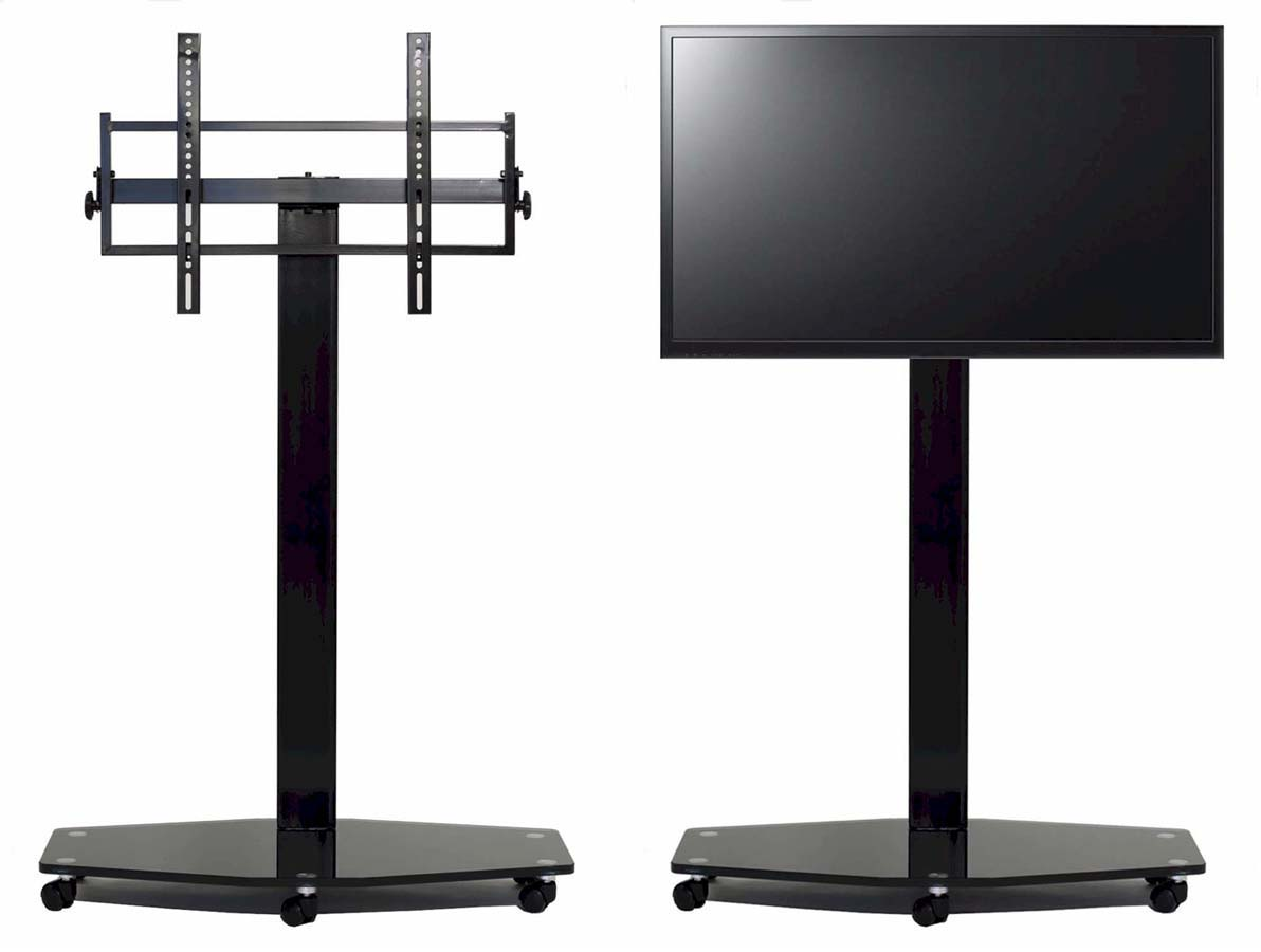 Tv Stand With Wheels Transdeco Led Lcd Tv Stand W Mount Casters For 40 80