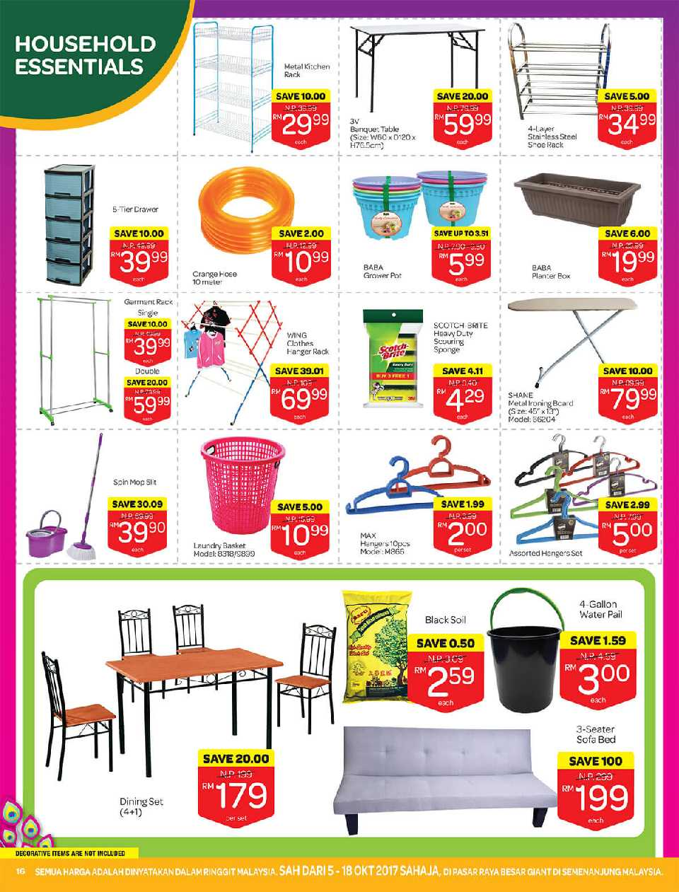Sofa Bed Giant Malaysia Giant Promotion Catalogue 5 October 18 October 2017