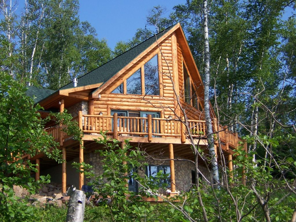 Schwedisches Gartenhaus Executive Log Home Lake Superior Spectacular... - Homeaway