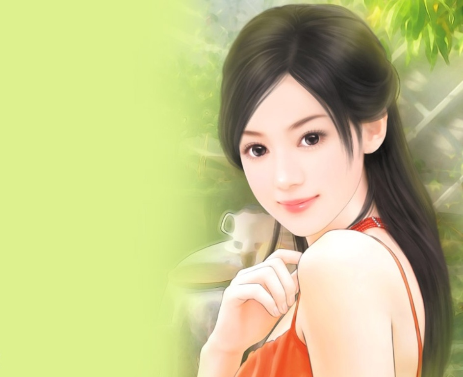 Beautiful Chinese Girl Painting Wallpaper 301 Moved Permanently