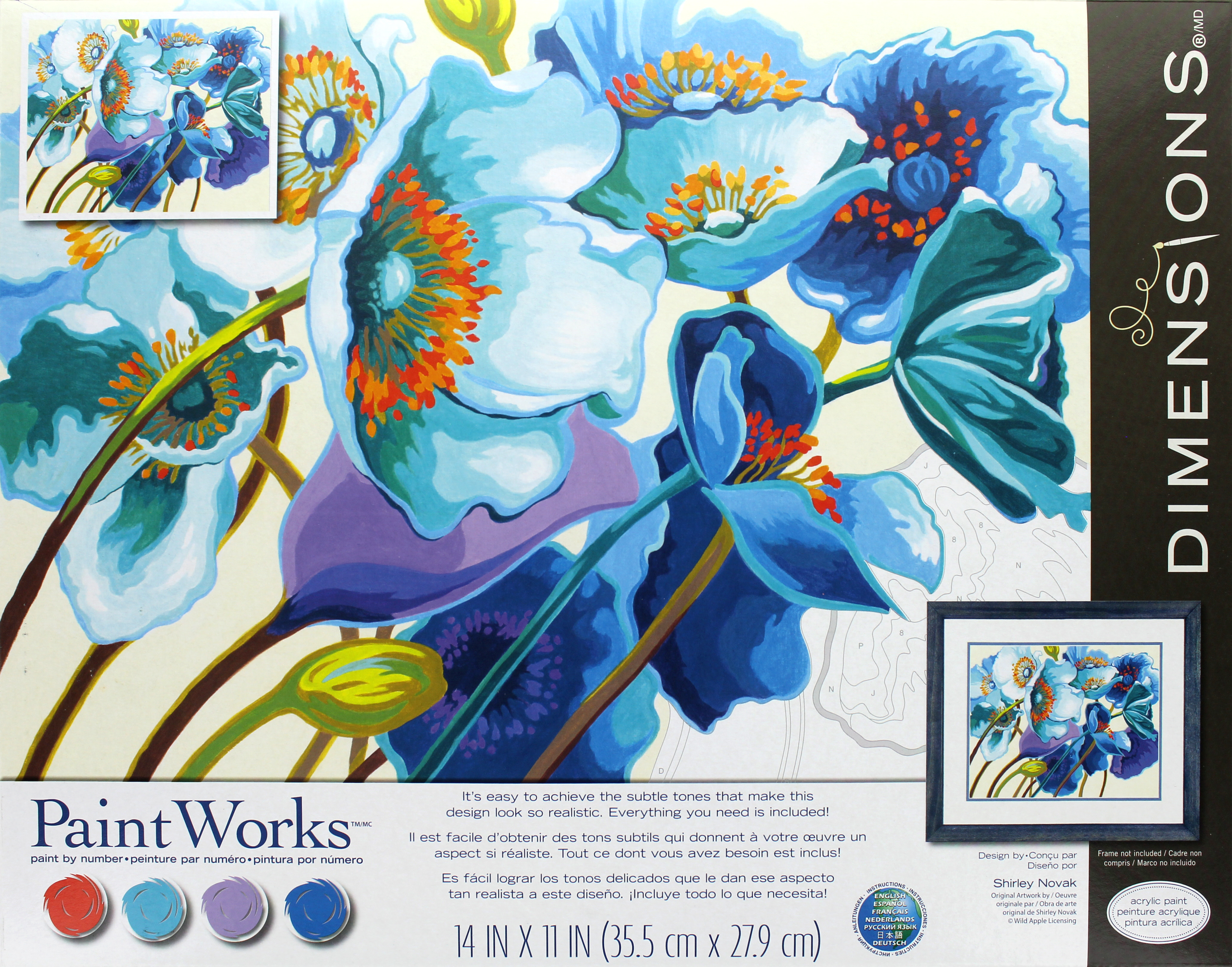 Paint Works Blue Poppies 14