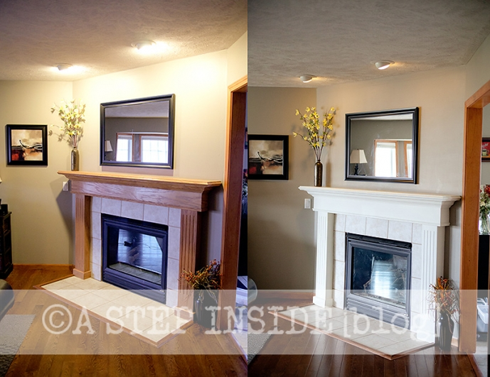 Fireplace Mantel Before After A Step Inside